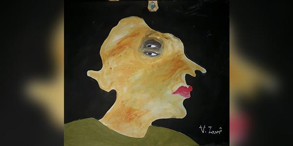 اللوحة للفنّان التشكيلي: أكرم زافى -سوريا