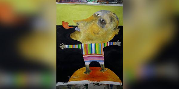 اللوحة للفنَّان التشكيلي: أكرم زافى-سوريا