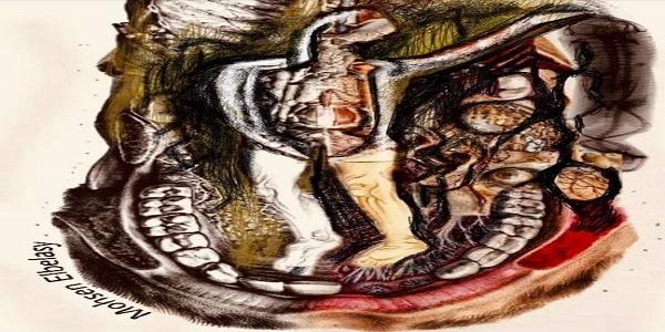 اللوحة عمل مشترك (ستيفن كيرين ومحسن البلاسي)