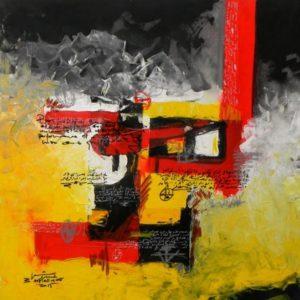 Technique mixte sur toile, 100 x 100 cm, 2015